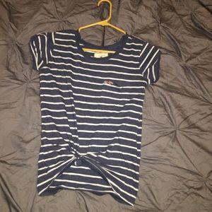 Stripped navy shirt